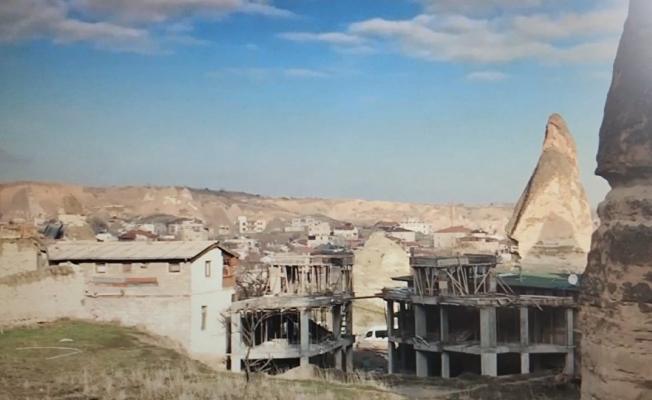 Peri Bacaları'nda otel inşaatı