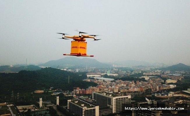 Drone ile kargo hizmeti başladı