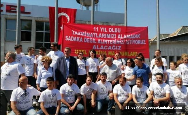 Uzel işçilerine CHP' den ziyaret