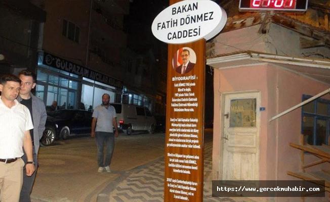 AKP'li belediye 18 yıllık caddenin adını değiştirip, 'Bakan Fatih Dönmez' koydu