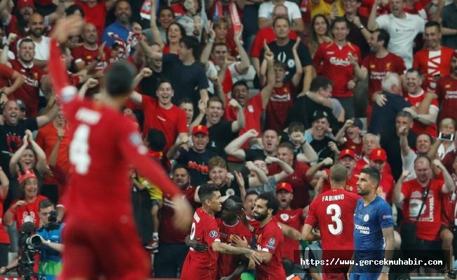 UEFA Süper Kupa finalinde kupanın sahibi Liverpool oldu!