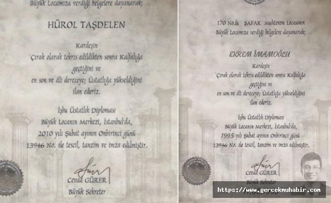 İmamoğlu için hazırlanan sahte mason diplomasının sahibi ortaya çıktı
