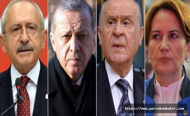 Erdoğan, Bahçeli, Kılıçdaroğlu ve Akşener'i aradı