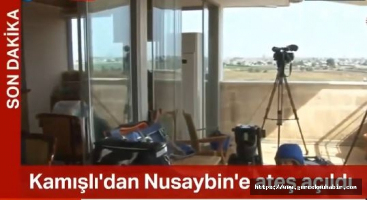 Kamışlı'dan Nusaybin'de gazetecilerin bulunduğu binaya ateş açıldı