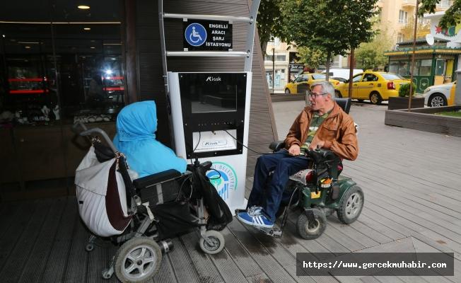 Odunpazarı Belediyesi'nden Hamamyolu'na Engelli Aracı Şarj İstasyonu