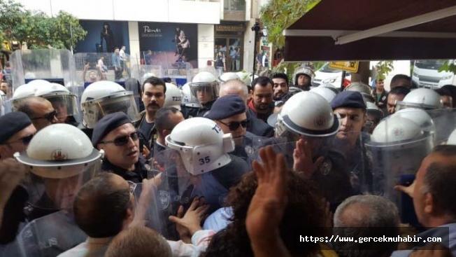 Sezai Temelli'nin katıldığı 'Barış Pınarı Harekâtı' protestosuna polis müdahalesi