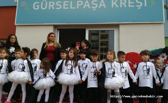 Seyhan'ın kreşlerinde Atatürk'ü anma ve anlama programı