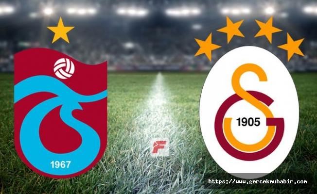 Trabzonspor - Galatasaray maçında ilk 11'ler belli oldu
