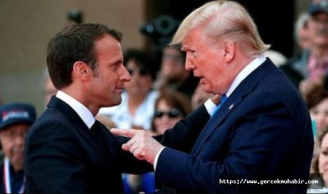Trump'tan Macron'a çok sert yanıt