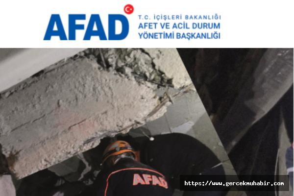 AFAD'tan Son Durum Açıklaması
