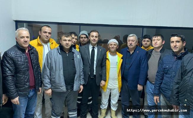 CHP'li Ahmet Akın, Yörsan işçilerini ziyaret etti