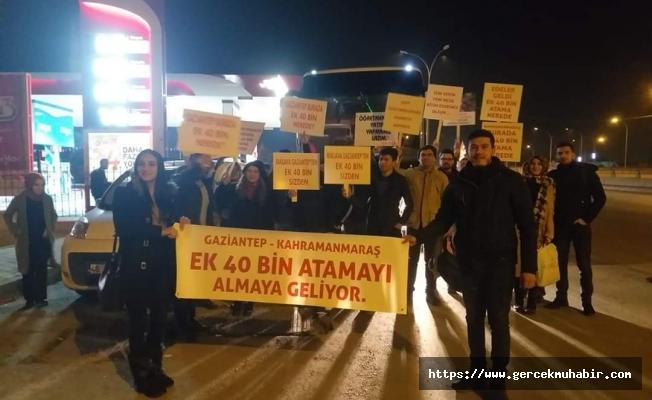 Öğretmenler 40 bin ek atama için Ankara'da toplandı