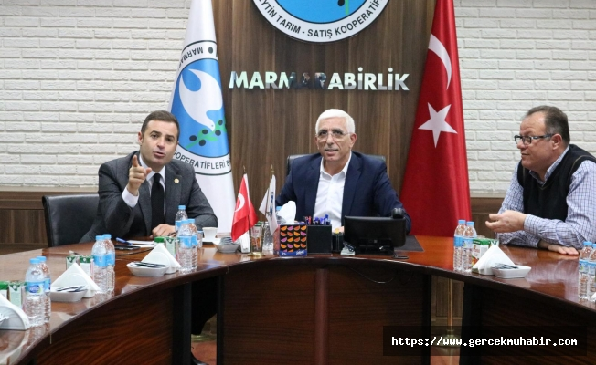 CHP'li Akın, Marmarabirlik'i ziyaret etti