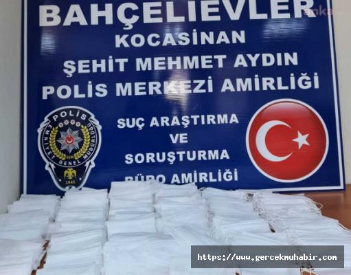 İstanbul'da İzinsiz Üretilen Maskeler Ek Konuldu