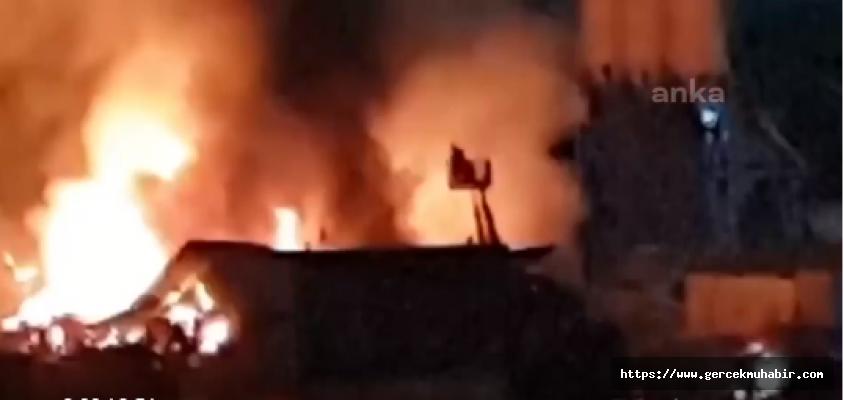 Şantiyede yangın; bir işçi hayatını kaybetti