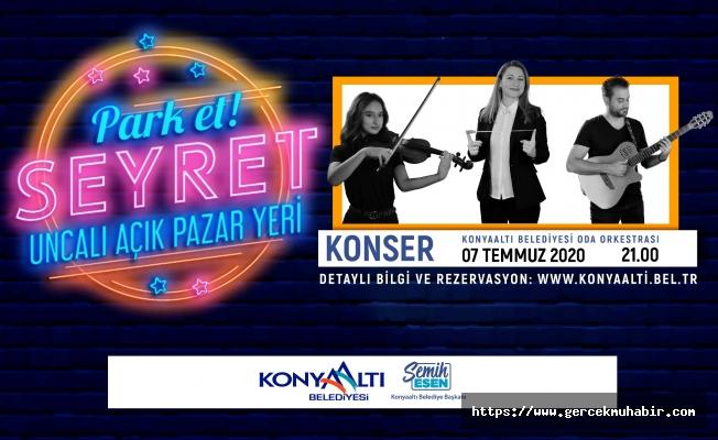 Konyaaltı'nda 'Park Et Seyret' konserleri başlıyor