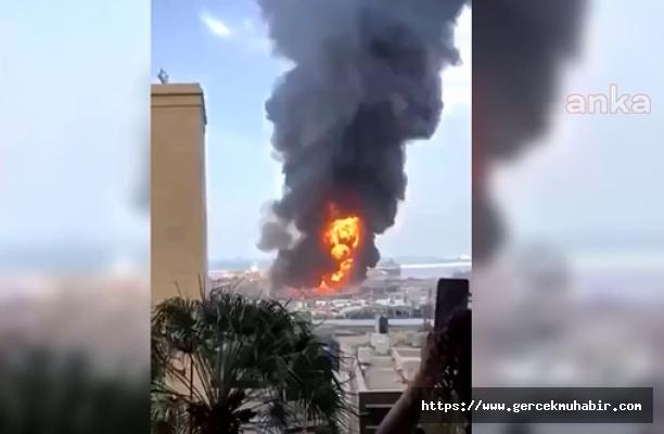 Beyrut Limanı'nda Yeniden Yangın Çıktı