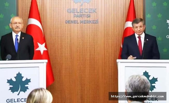 CHP Lideri Kılıçdaroğlu, Gelecek Partisi Lideri Davutoğlu'nu Ziyaret Etti