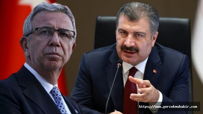 Sağlık Bakanı Koca'dan Ankara Büyükşehir Belediye Başkanı Mansur Yavaş'a teşekkür
