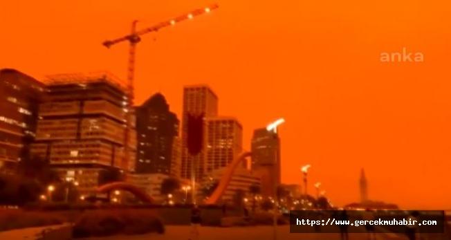 San Francisco'da Gökyüzü Turuncuya Büründü