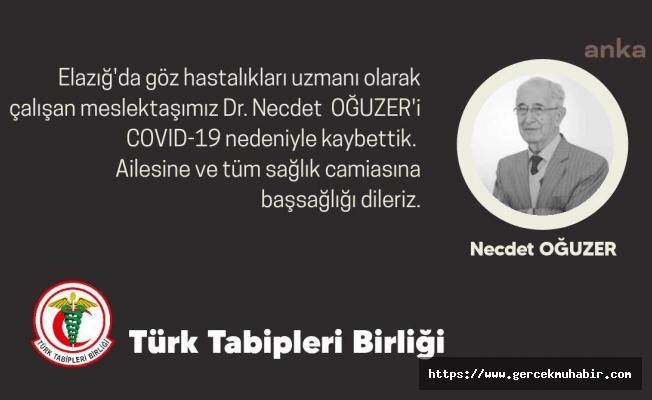 Türk Tabipleri Birliği (TTB) Bir Doktorun Daha Koronavirüsten Vefat Ettiğini Duyurdu