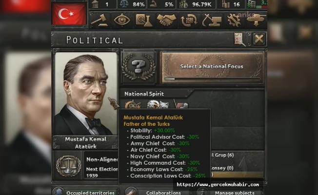 Ünlü strateji oyununa Türkiye de eklendi: Atatürk en güçlü lider olacak