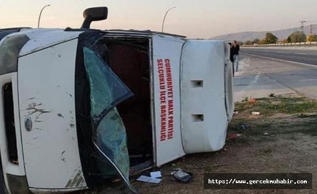 10 Ekim Katliamı anması için Ankara'ya doğru yola çıkan CHP'liler trafik kazası geçirdi