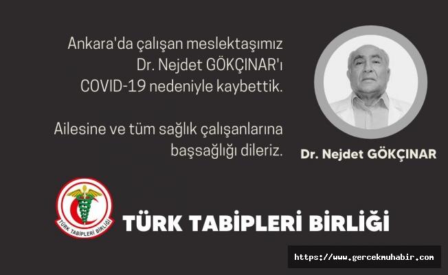 Ankara'da bir doktor daha Covid-19'dan hayatını kaybetti