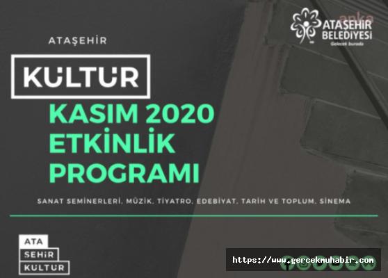 Ataşehir'de Kültür Sanat Kasım'da Da Tüm Hızıyla Devam Edecek