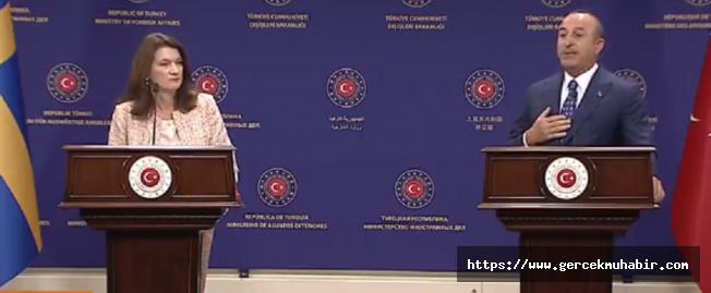 Çavuşoğlu'ndan İsveçli Bakan'a Suriye Tepkisi