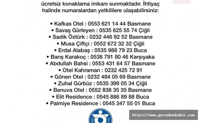 Otelcilerden depremzedelere ücretsiz konaklama imkanı