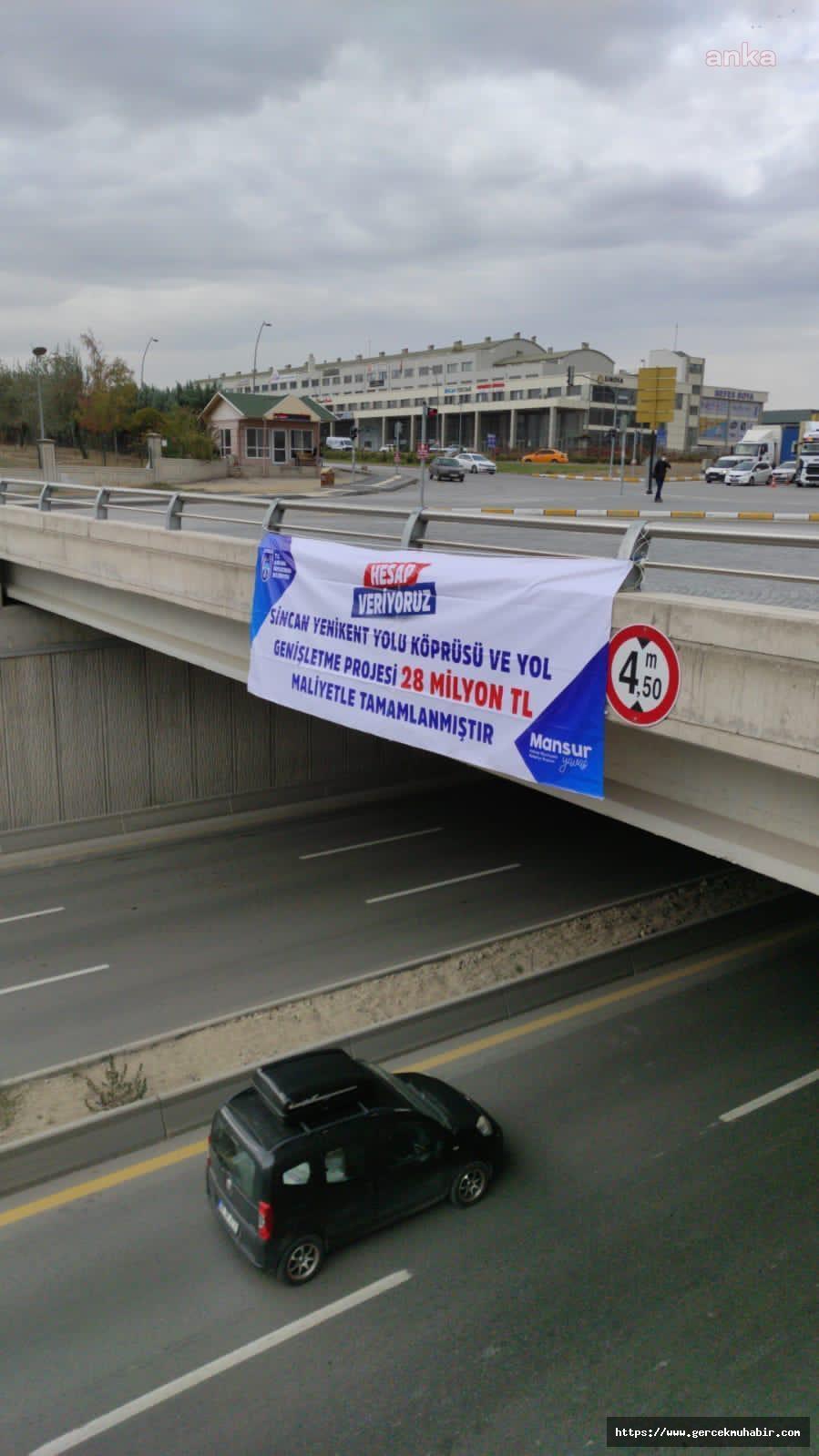 """Mansur Yavaş """"Hesap veriyoruz"""" diyerek Sincan Yenikent Kavşağı'nın maliyetini açıkladı"""
