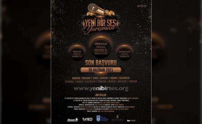 100 Bin Lira Ödüllü 'Yeni Bir Ses' Yarışması Başlıyor