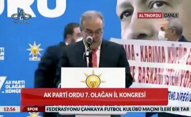 AKP Ordu Kongresi'nde şok eden pankart: Anama-karıma küfür eden belediye başkanı istemiyorum