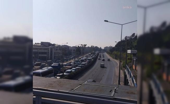 İzmir'de Erdoğan trafiği
