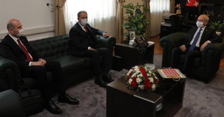 Süleyman Soylu ve Hulusi Akar'dan CHP lideri Kemal Kılıçdaroğlu'na ziyaret