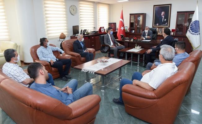 ASKF'den,  Başkan Akay'a teşekkür ziyareti
