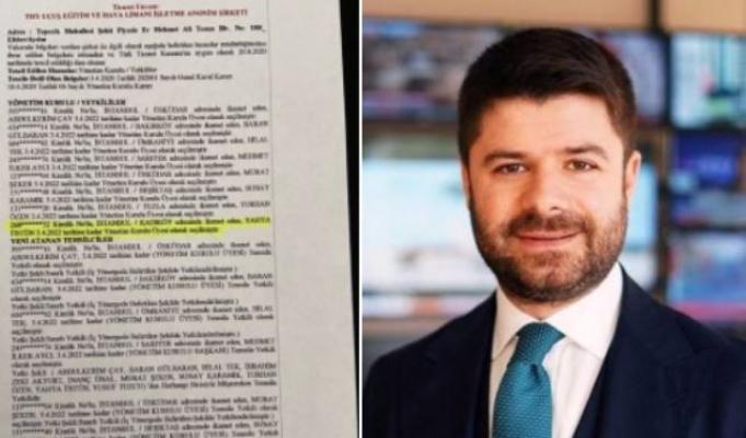 Bilal Erdoğan'ın lise arkadaşı THY Basın Müşaviri Yahya Üstün, 41. şirkete de yönetim kurulu üyesi oldu!