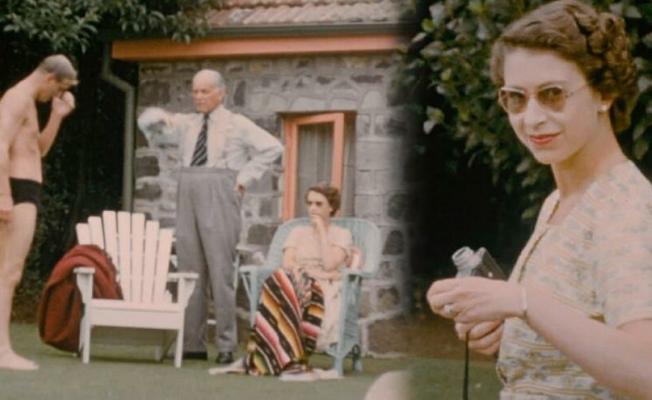 Kraliçe Elizabeth'in 68 yıl sonra ilk kez ortaya çıkan görüntüleri