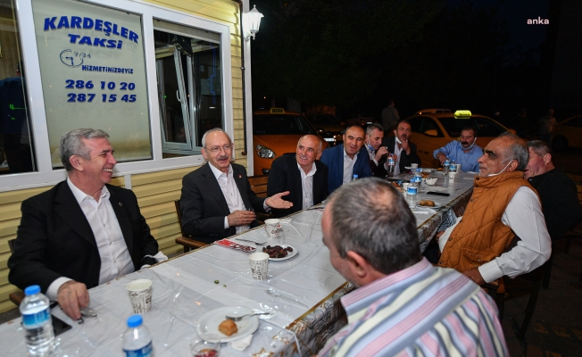 CHP Lideri Kılıçdaroğlu ve Mansur Yavaş, taksicilerle birlikte iftar yaptı