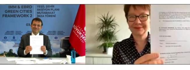İBB ile Avrupa İmar ve Kalkınma Bankası  arasında mutabakat metni imzalandı