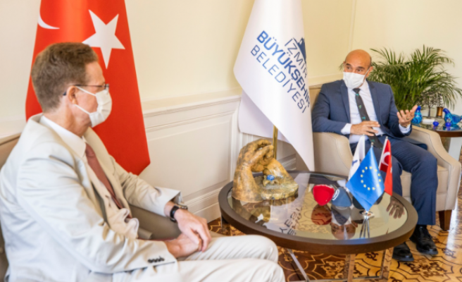 AB Türkiye Delegasyonu Heyetinden Tunç Soyer'e Ziyaret