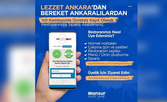 Ankara Büyükşehir Belediyesi'nin yemek sipariş uygulaması Lezzet Ankara'ya yoğun ilgi