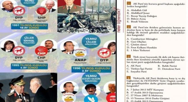 Atatürk İlkeleri ve İnkılap Tarihi dersini AKP tarihine çevirdiler; AKP'nin 2002-2018 dönemi