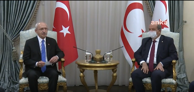CHP Lideri Kılıçdaroğlu, KKTC Cumhurbaşkanı Tatar ile Görüştü