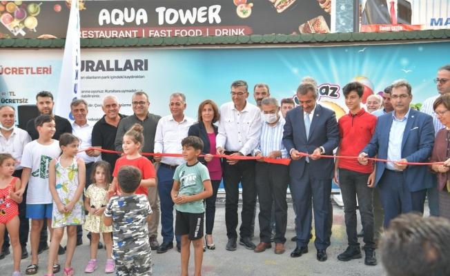 Çukurova Belediye Başkanı Soner Çetin, Park Vadi Tesislerinde Aqua Tower'ın açılını yaptı!