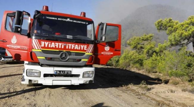 İBB Ekipleri, Manavgat ve Marmaris'teki Yangın Söndürme Çalışmalarında
