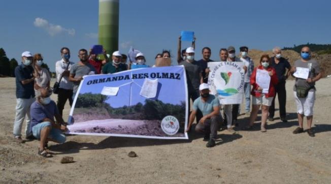 Karamürsel ve Gölcük'te 9 RES'e Tepki: Projenin Yüzde 60'ı Ormanlık Alan Üzerinde Kurulu