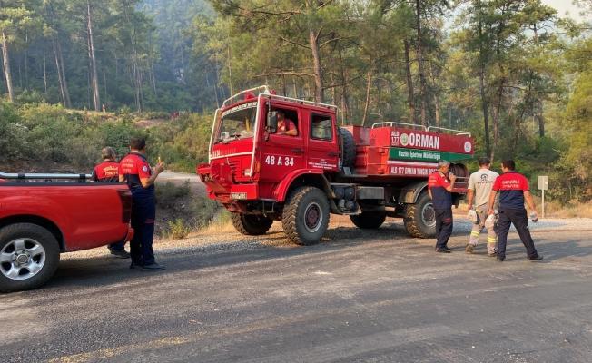 Marmaris'teki yangın hala kontrol altına alınamadı