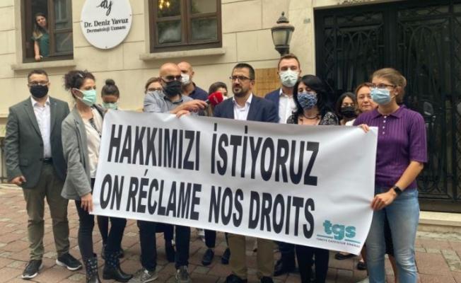 AFP'nin İstanbul Bürosuna Grev İlanı Asıldı